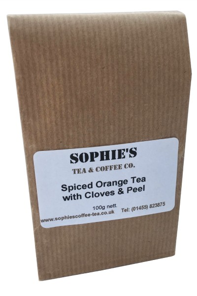 Spiced Orange Tea with Cloves and Peel